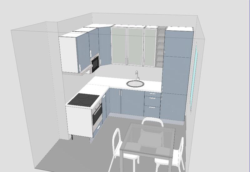 Projekt kuchni  wizualizacje  Projektowanie wnętrz  forum muratordom pl -> Kuchnia Ikea Planer